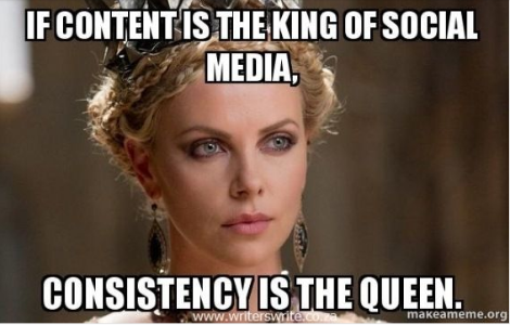 consistency is the queen